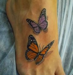 most beautiful butterfly tattoos for women | The most beautiful 3D butterfly tattoos images for women