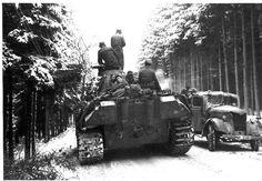 Pantera z piechotą  Ardeny, 1944 r