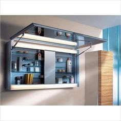 Large Medicine cabinet - Extra Large Medicine Cabinets for modern bathroom Bathroom Mirror Cabinet, Mirror Cabinets, Bathroom Cabinets, Bathroom Furniture, Bathroom Interior, Vanity Cabinet, Bathroom Vanities, Wood Cabinets, Bathroom