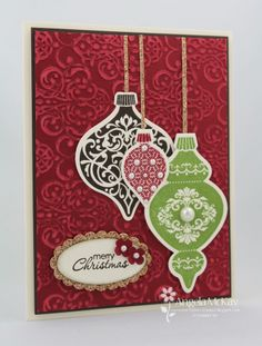 stampin up ornament keepsake card ideas | Stampin' Up! Christmas Card by Angela M at ... | Stampin' Up! Christm ...