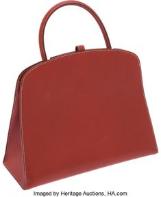 Luxury Accessories:Bags, Hermes Brick Calf Box Leather Dalvy Bag. ...