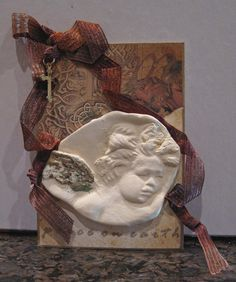 Paper Clay Angel Tag.
