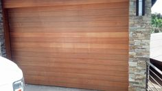 Natural-wood finish on a recent door replacement by Mark Christopher 888.870.4677