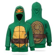 Teenage Mutant Ninja Turtle Kids' Hoodie   ThinkGeek #seasonalfall #halloween #nostalgia