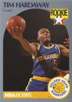 Tim Hardaway Guard Rookie Trading Card 113 Golden State Warriors (NBA Hoops card) NM 1989-1990 $1.00 See Now: Cassette and Video Corner