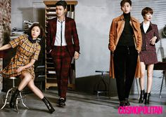 "The cast of new drama ""She Was Pretty"" Hwang Jung Eum, Park Seo Joon, Go Joon Hee, and Choi Siwon for Cosmopolitan Korea Choi Siwon, She Was Pretty Kdrama, Go Jun Hee, Sung Joon, Hwang Jung Eum, K Drama, Park Seo Joon, Seo In Guk, Japanese Drama"
