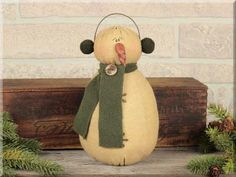 Another cute one from Honey & Me C1524 Tall Snowman with Earmuffs