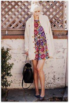 so simple and cute. just a big cardigan, dress, and a top knot