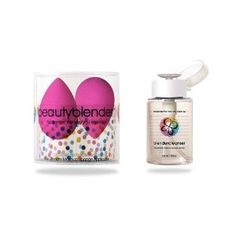 Beautyblender and  Blendercleanser Combo --- http://www.amazon.com/BeautyBlender-2XSC239-Beautyblender-Blendercleanser-Combo/dp/B000I5MJ8S/?tag=wwwfabprofits-20