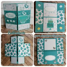 Never ending card with have a cuppa designer series paper
