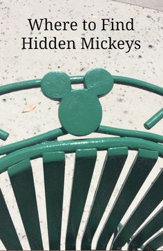 Where to find Hidden Mickeys at Disney World Florida