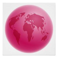Globo rosa.