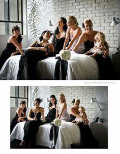 chic, modern, urban black and white wedding