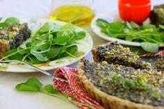 Portobello Mushroom and Curried Spinach Quiche