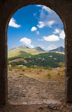 θέα από το κάστρο, Πάργα, view from the castle, Parga, Greece