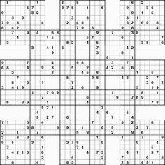 Sizzling image within free printable samurai sudoku puzzles