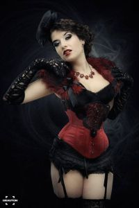 Another beautiful red corset