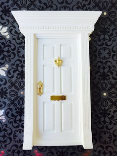 All White Fairy Door by FairyAvenue on Etsy https://www.etsy.com/listing/211783668/all-white-fairy-door