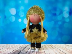 Doll Judy. Tilda doll. Textile doll. Lovely girl. Сollection La Petite. Interior doll. Rag doll. Сute doll. Toy. Soft toy. Golden Star. by OwlsUa on Etsy
