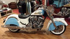 2015 Indian Motorcycles Classic - Custom Powder Blue & White paint. Eye candy