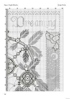 Borduurpatroon Kruissteek Dromenvanger *Embroidery Cross Stitch Pattern Dreamcatcher ~Afbeelding Fragile Miracles 3/6~