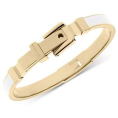 Michael Kors buckle bracelet Beautiful yellow gold Michael Kors buckle bracelet with white enamel. Authentic and in great condition. Michael Kors Jewelry Bracelets