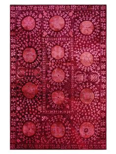 Medallion Overdyed Hand-Knotted Rug from The Statement Rug on Gilt