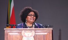 South African minister of environmental affairs Edna Molewa delivers a speech during opening ceremony of Cop17, the 17th Conference of the Parties to the Convention on the International Trade in Endangered Species of Wild Fauna and Flora