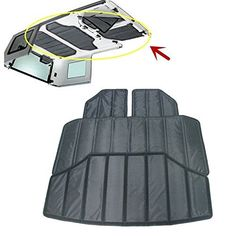 Jeep Wrangler JK Unlimited Hardtop Sound Deadener and Insulation Kit for the factory multi-piece hard top and greatly reduces noise inside your vehicle
