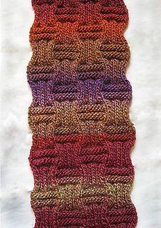 Scarf pattern - would make a warm afghan