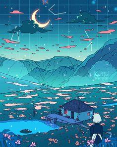 You who swallowed a falling star, o' heartless man, your heart shall soon belong to me. You who swallowed a falling star, o' heartless man, your heart shall soon belong to me. Art Studio Ghibli, Studio Ghibli Films, Wallpaper Animes, Animes Wallpapers, Cute Wallpapers, Moving Wallpapers, Moving Backgrounds, Hayao Miyazaki, Aesthetic Art
