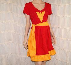 Phoenix Red Gold Tank Top Sundress Dress Cosplay by mtcoffinz, $80.00