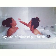 My kind of relationship ... Simple