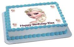 Frozen Elsa Face 2 Edible Birthday Cake Topper OR Cupcake Topper, Decor
