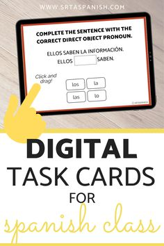 10 Reasons to try Boom Cards in Spanish Class - SRTA Spanish Middle School Spanish, Spanish Class, Teaching Spanish, Get To Know You Activities, Spanish Lesson Plans, Interactive Activities, Google Classroom, Getting To Know You, High School Students