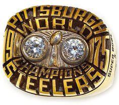 The Steelers Super Bowl X Championship ring.