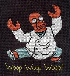 YESSSS!!! Dr. Zoidberg cross-stitch