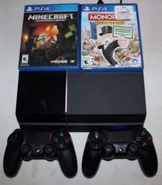 Sony PlayStation 4 Lot 2 Controllers 2 Games Minecraft Monopoly Works Great #Sony #PlayStation #Lot #Controllers #Games #Minecraft #Monopoly #Works #Great #PS