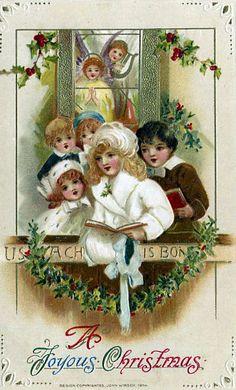 A Vintage Christmas Postcard