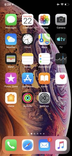 iPhone XS home screen Simple Iphone Wallpaper, Aesthetic Iphone Wallpaper, Organize Phone Apps, Iphone App Layout, Note Reminder, Ios Icon, Xmax, Phone Organization, Homescreen
