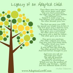 Legacy of an Adopted Child poem Adopt Poem, Adoption Quote, Adoptive Family
