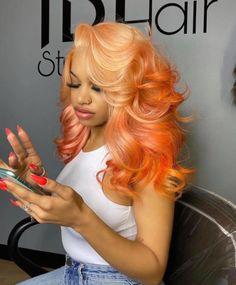 Perfect Wavy Hair, Gorgeous Hair, Natural Hair Styles, Short Hair Styles, Dyed Natural Hair, Baddie Hairstyles, Black Girls Hairstyles, Hair Laid, Hair Studio