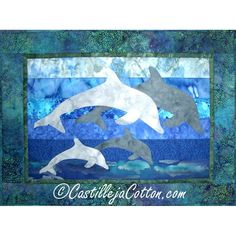 Dolphin Family ... by DianeMcGregor | Quilting Pattern - Looking for your next project? You're going to love Dolphin Family Quilt Pattern 3881-19 by designer DianeMcGregor. - via @Craftsy