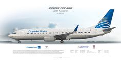 Boeing 737-800 Copa Airlines HP-1851CMP | www.aviaposter.com | #airliners #aviation #jetliner #airplane #pilot #aviationlovers #avgeek #jet #sideplane #airport