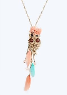 image of Boho Owl Necklace