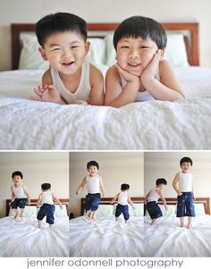 brothers jumping on bed, child photography, jennifer odonnell photography, Portland Oregon