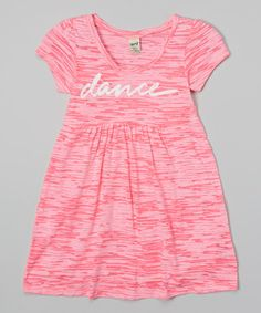 Love this Pink Sorbet Variegated 'Dance' Dress - Toddler & Girls by Dancewearables on #zulily! #zulilyfinds