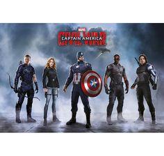 Captain America Civil War Poster Team Captain America. Hier bei www.closeup.de