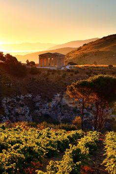 Segesta Sunrise, Sicily, Italy, province of Trapani