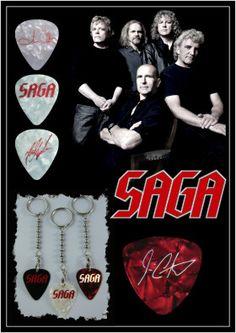 Canadian Prog Rock Pioneers - SAGA Custom guitar picks and band merch items by EGOpicks.com